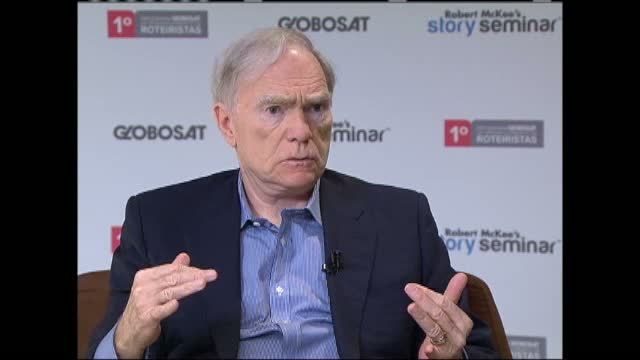 Robert McKee discusses Story with Globosat television in Brazil